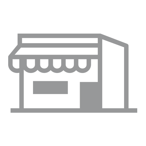 Gray retail storefront building icon